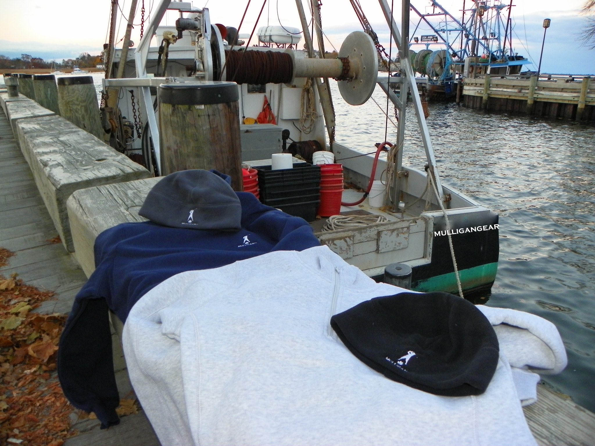 Mulligangear boat with winter wear NOV 2013