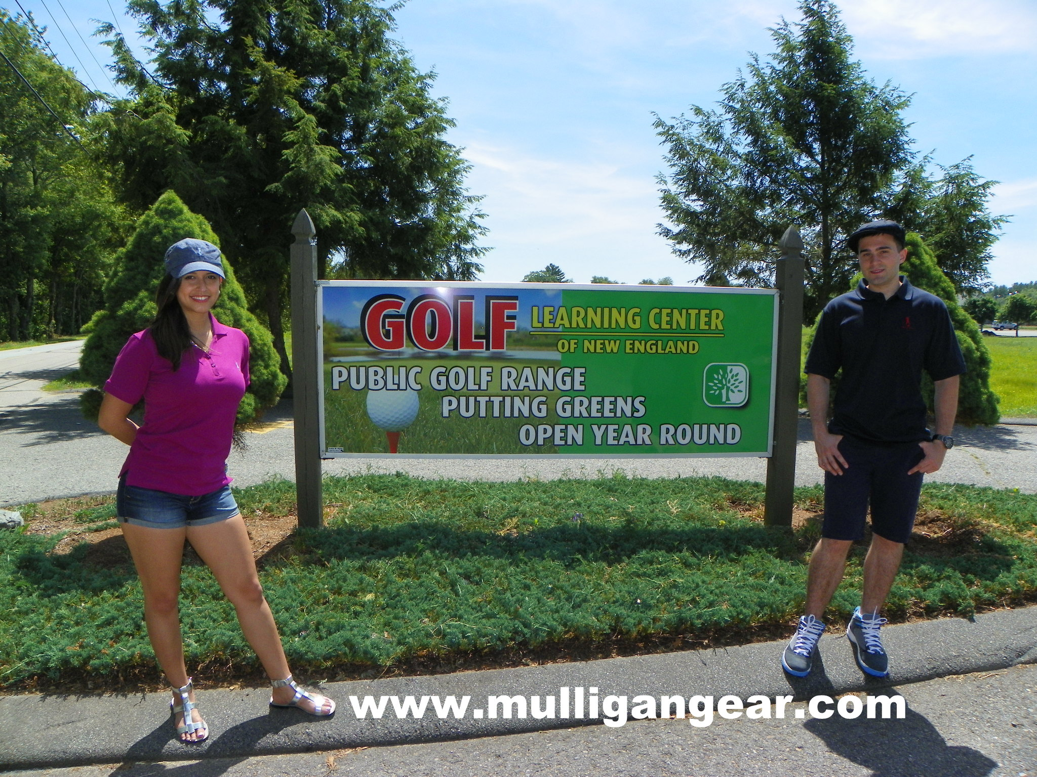 Mulligan Gear sets up a pop up shop at the Golf Learning Center in Norton, MA.