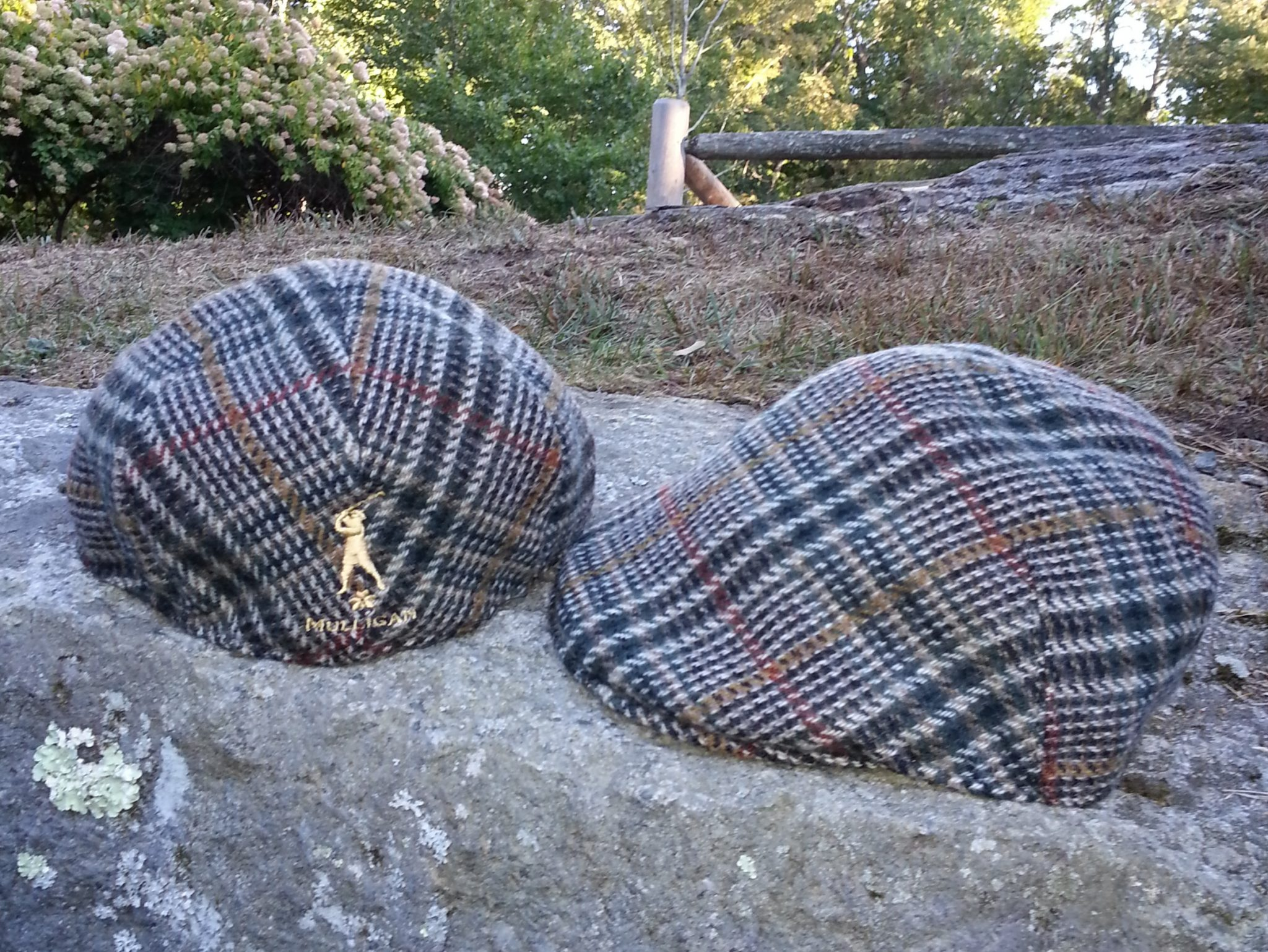 Plaid pub cap cropped